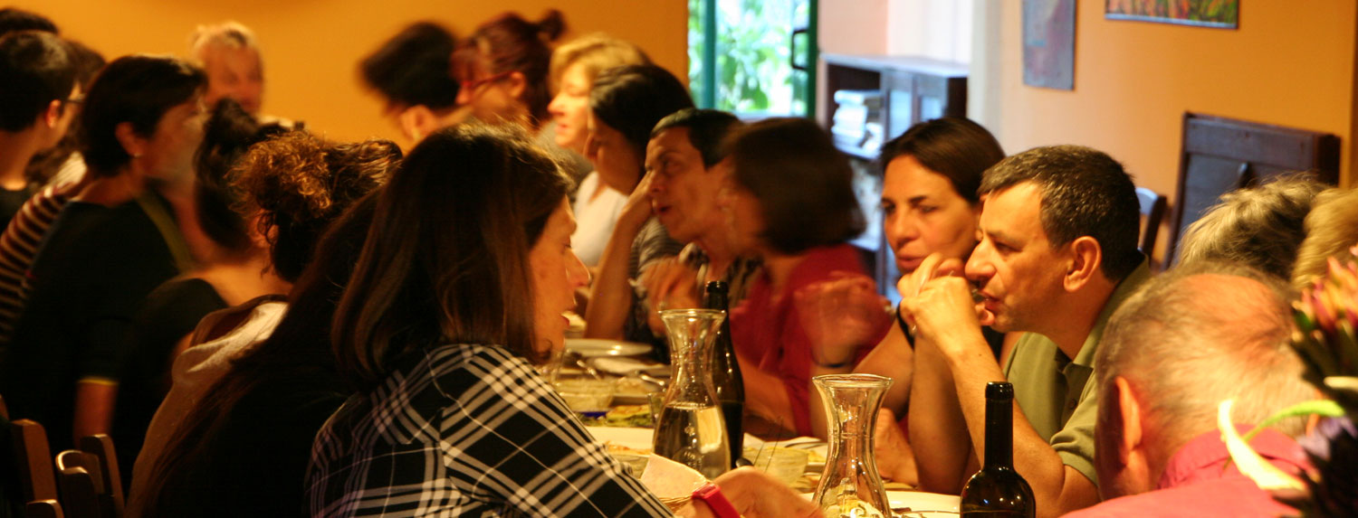 Dinner with new friends in your summer Holiday in Marche Italy