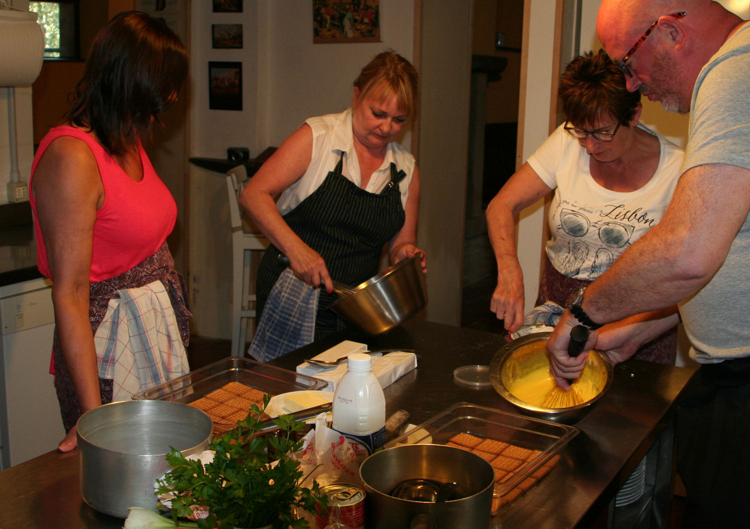Holiday cooking in Marche Italy