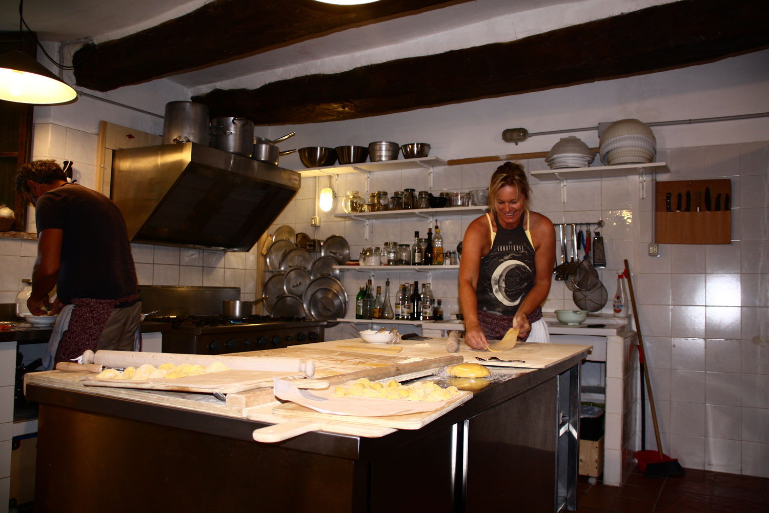Cooking Fantastic food in Marche Italy