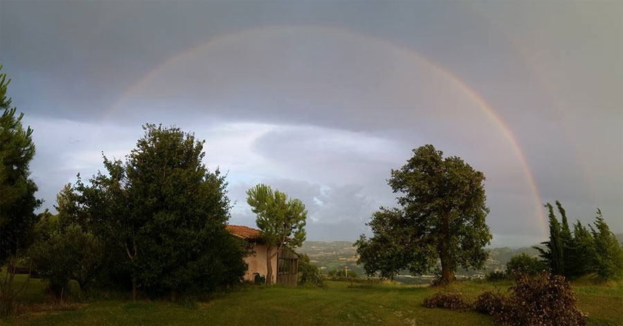 rainbow in Italy Marche